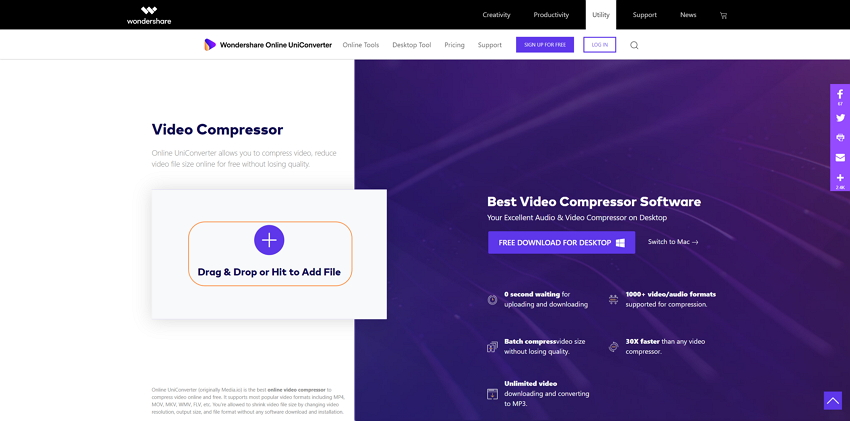 Add file(s) to the online compressor