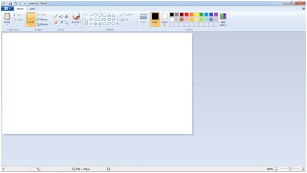 launch Microsoft Paint