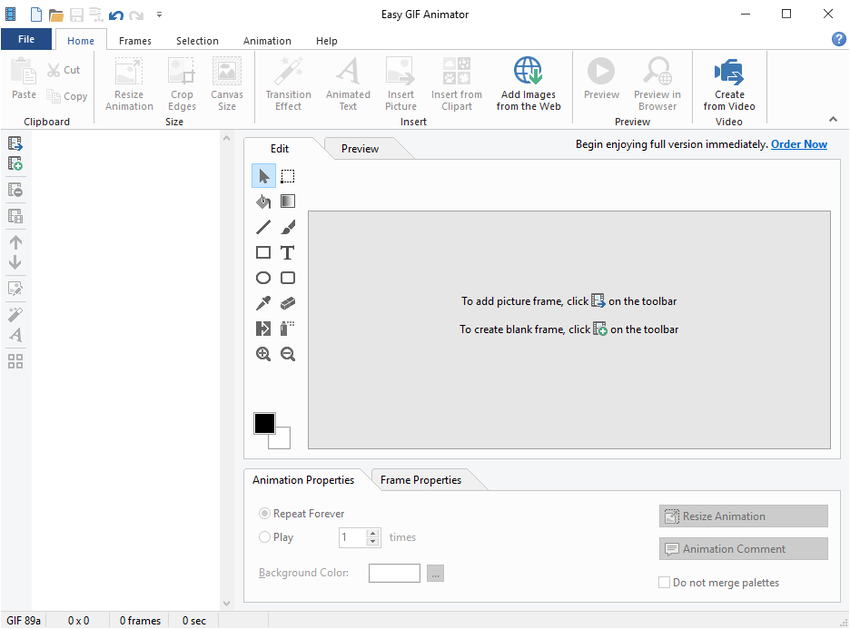 Edit GIF in Easy GIF Animator