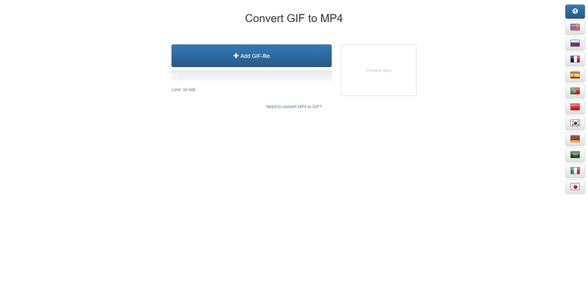 Convert a GIF to MP4 in GIF2mp4