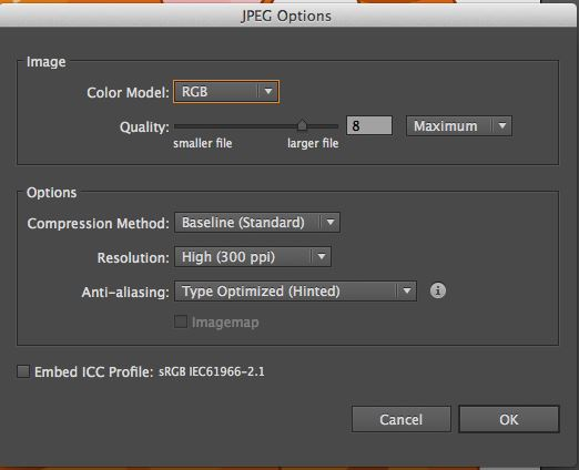 adjust JPG quality