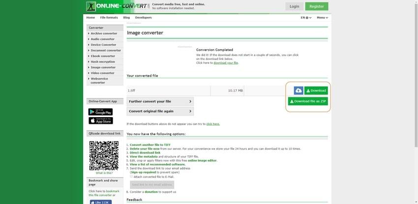 start conversion-Online Convert