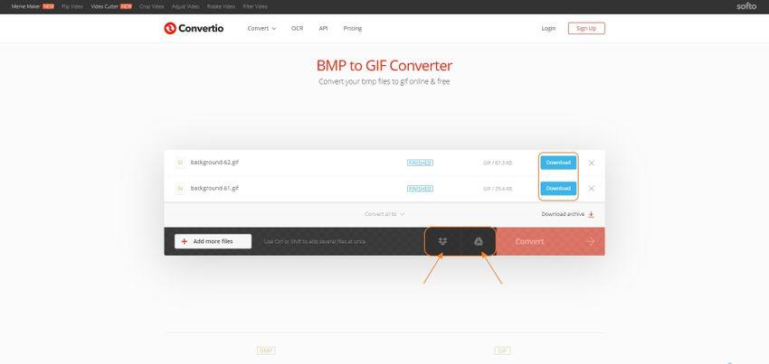 Save GIF-Convertio