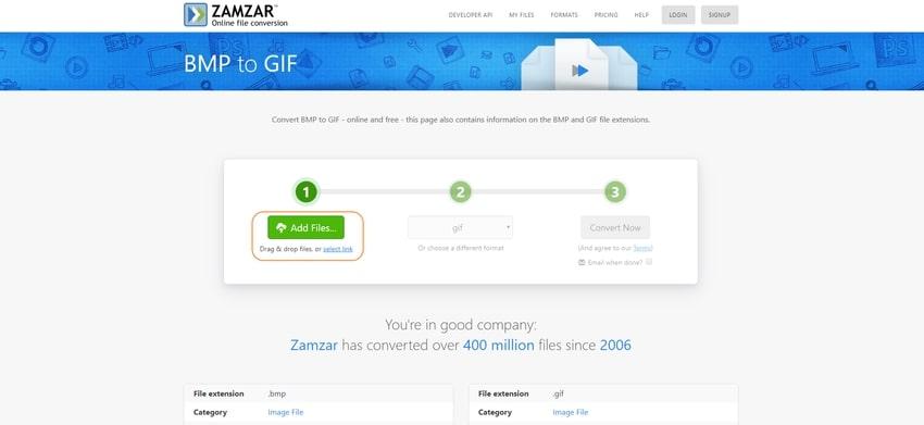 add image files-Zamzar
