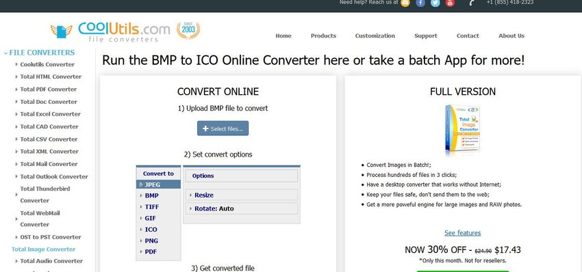 Convert BMP format to ICO-CoolUtils