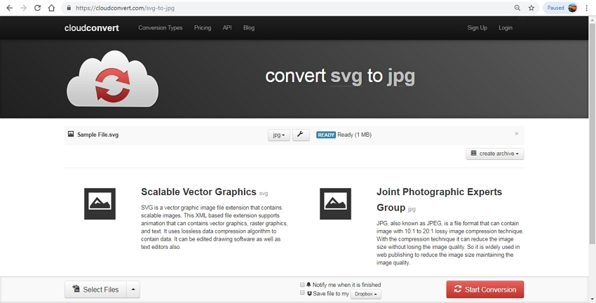 Effectively Convert SVG to JPG