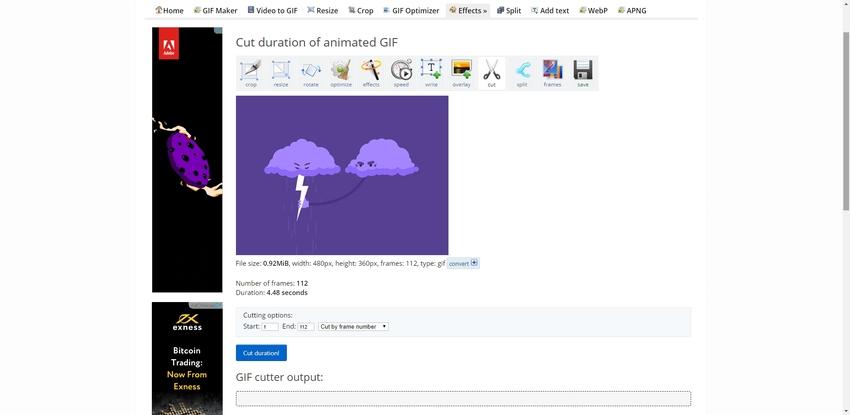 Crop GIF Online-EZGIF