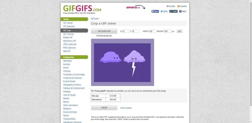 Crop Animated GIF-GifGifs