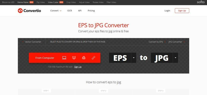 EPS to JPG converter online-Convertio