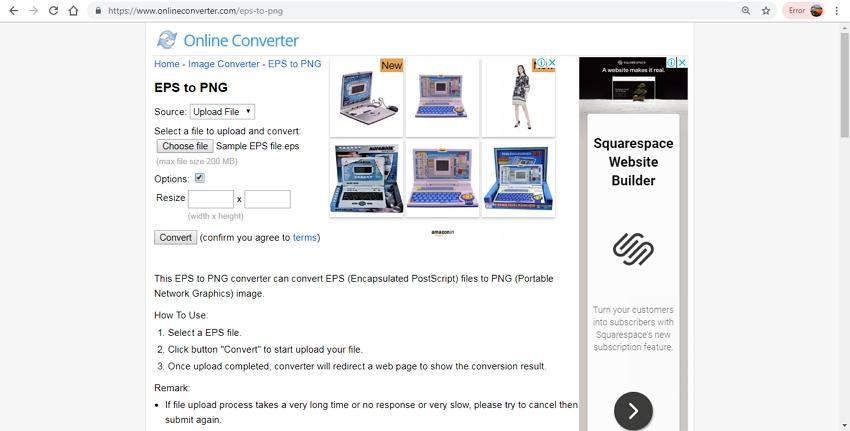 convert EPS from PNG-Online Converter