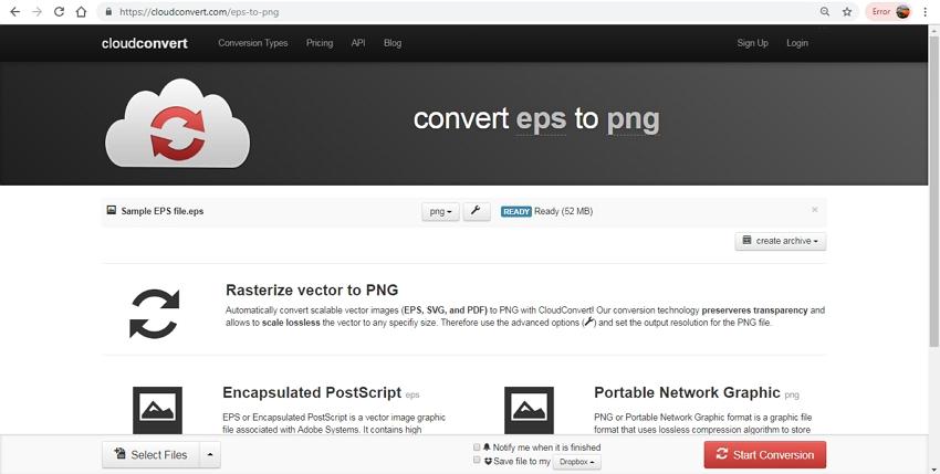 EPS to PNG conversion-CloudConvert