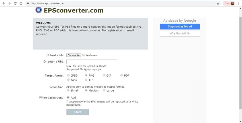 change EPS to PNG-EPSConverter