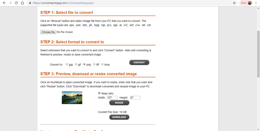 Convert EPS to PNG