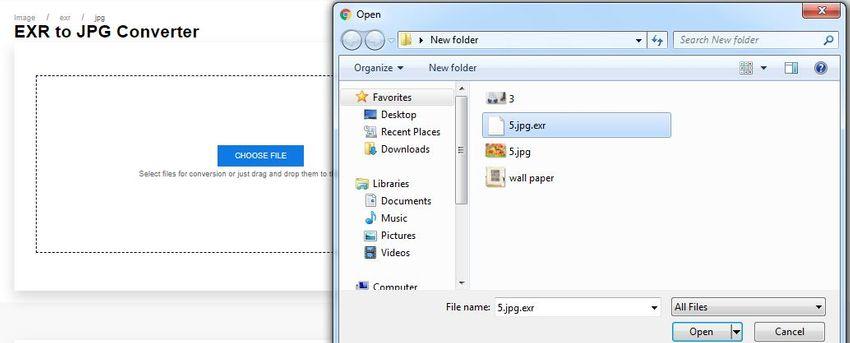 drag&drop EXR file format-Anyconv