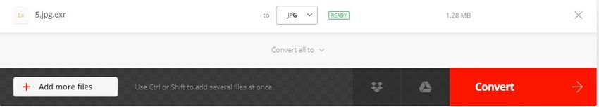 choose JPG format-Convertio