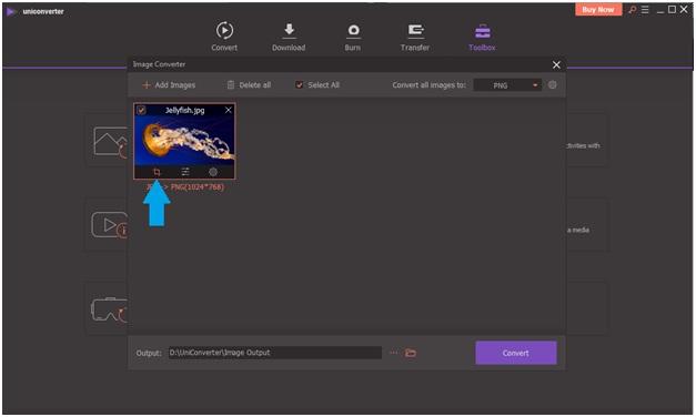 edit PNG image-UniConverter