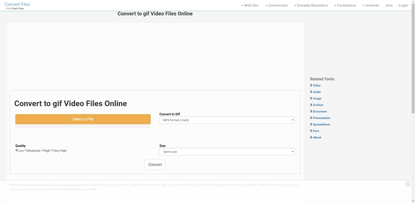Files Conversion-FLV to GIF Converter