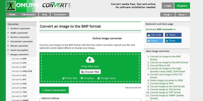 convert GIF to BMP-Online Convert