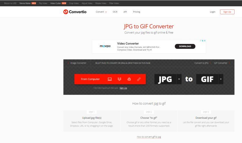 GIF files to JPG image-Convertio