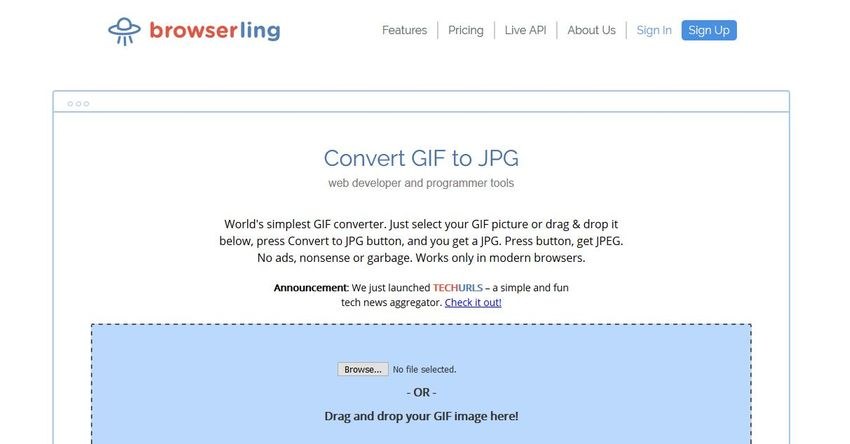 GIF to JPG Online Converter-Browserling