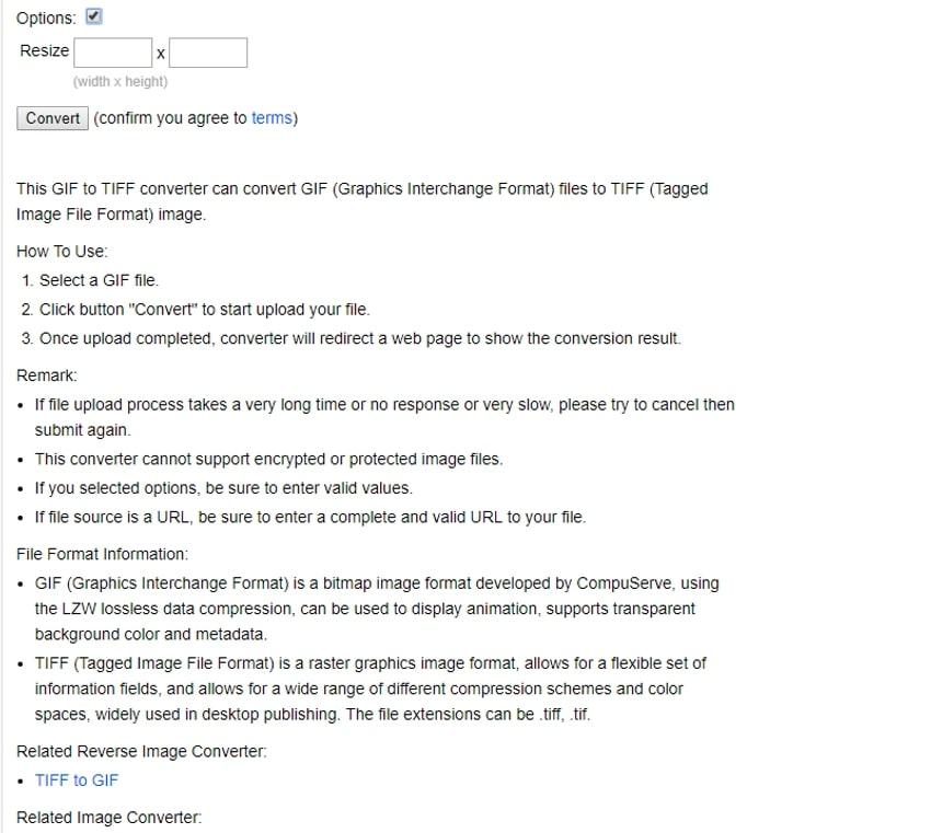 make necessary change and click convert-Onlineconverter