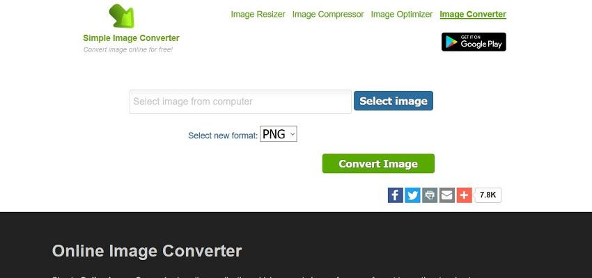 change pic to JPG format-Simple Image Resizer