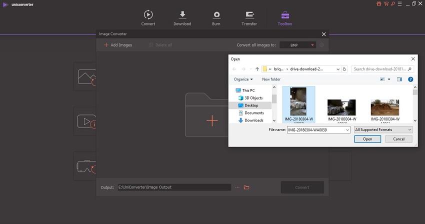 add or drag&drop files