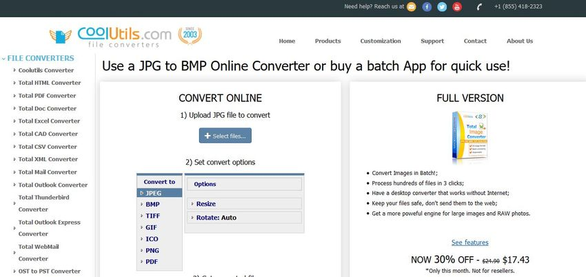 free JPEG to BMP Converter-CoolUtils