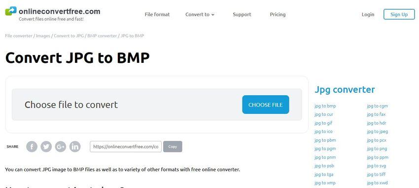 JPEG to BMP Converter-Online Convert Free