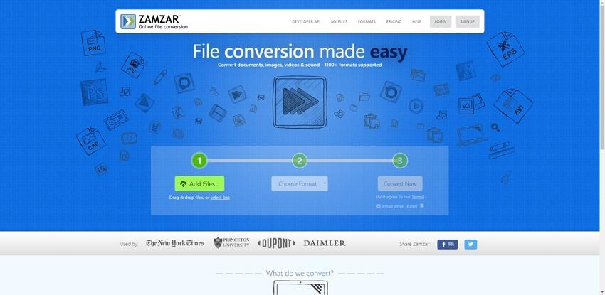 JPEG to WebP conversion in Zamzar