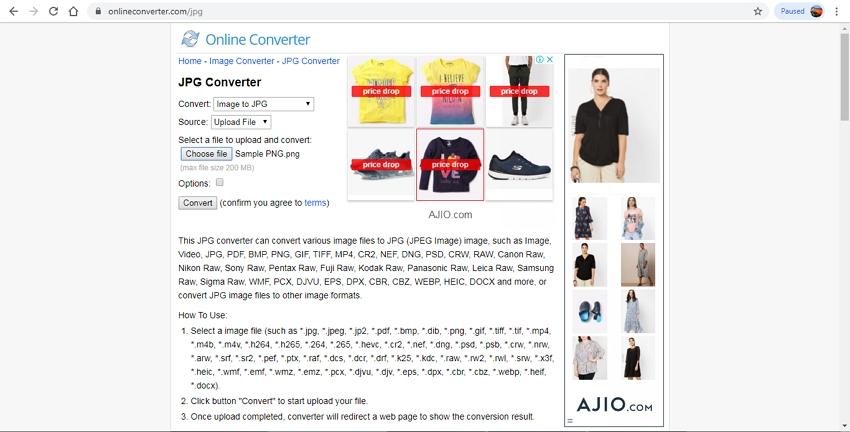 JPG Online Converter-Online Converter