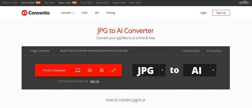 convert JPG to AI-Convertio