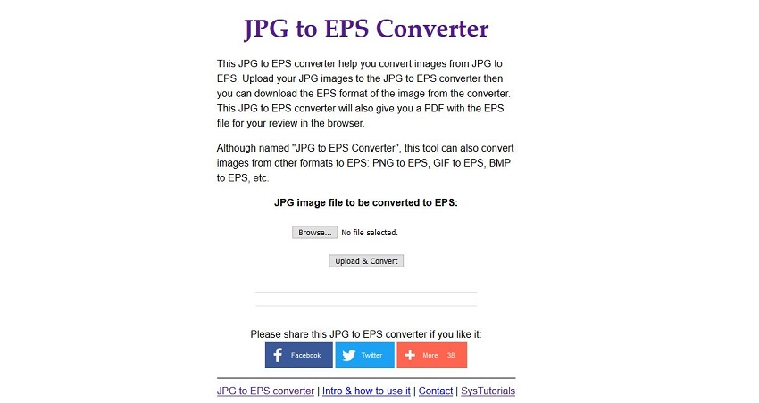 convert JPG to EPS for free of charge-Sys Tutorials