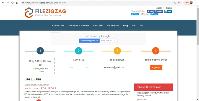 JPG to JPEG format-FileZigZag