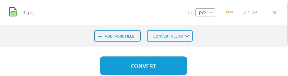 select a PCX file extrnsion-Onlineconvertfree