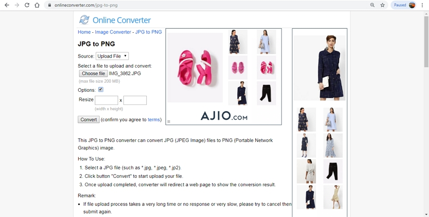 turn JPG to PNG-Online Converter