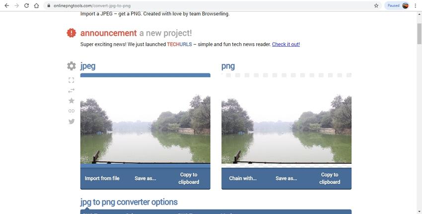 Convert JPG to PNG-OnlinePNGtools