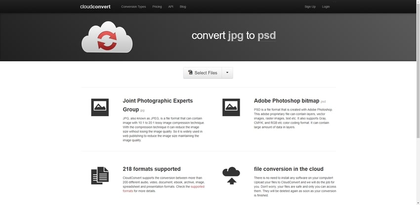 JPG image to PSD-Cloud Convert