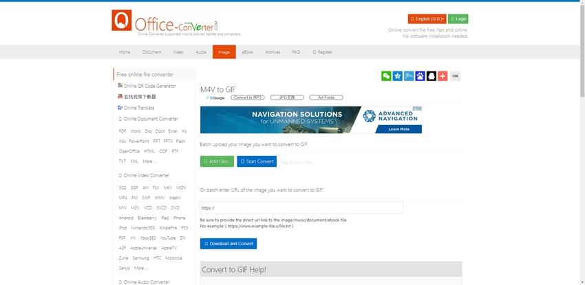 Turn M4V to GIF-Office Converter