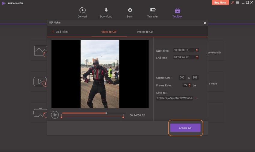 convert M4V to GIF-UniConverter