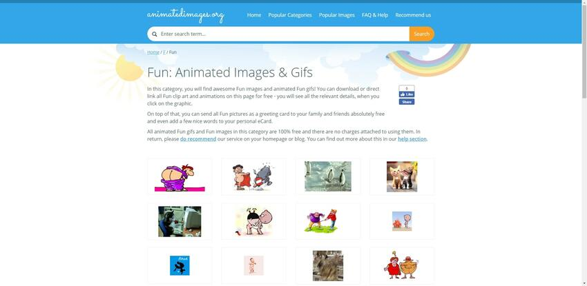 download free GIFs in Animated Images