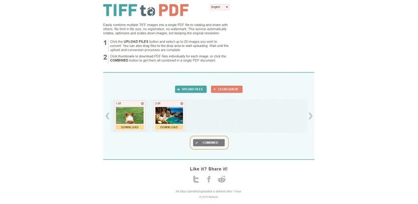 combine TIFF-TIFF to PDF