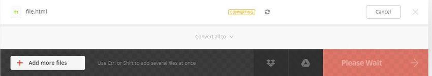 process of conversion-Convertio