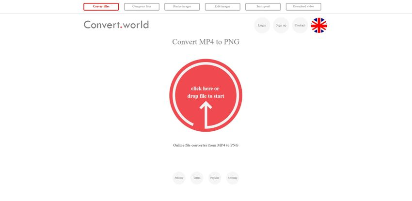 convert MP4 to PNG-Convert World