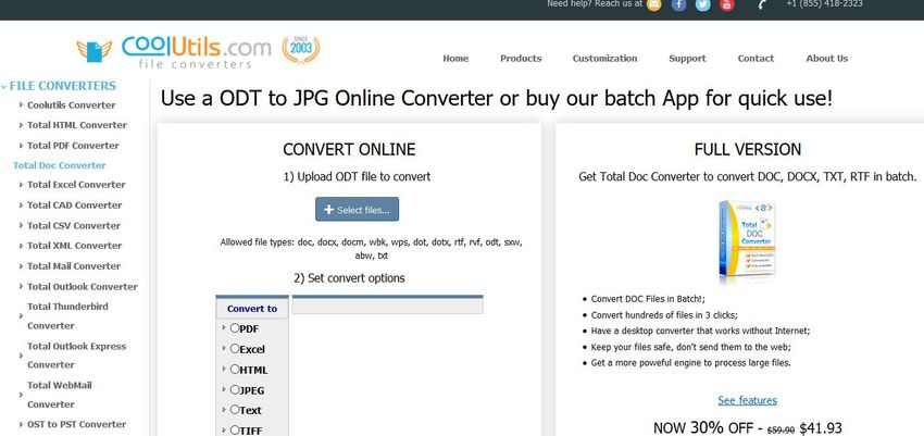 How to Convert ODT to JPG