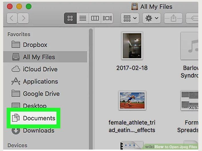 open JPEG file in Mac