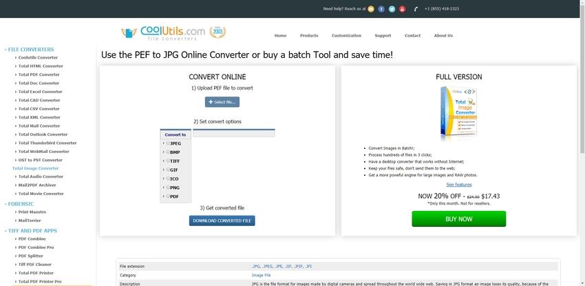 Online Convert PEF to JPEG-CoolUtils