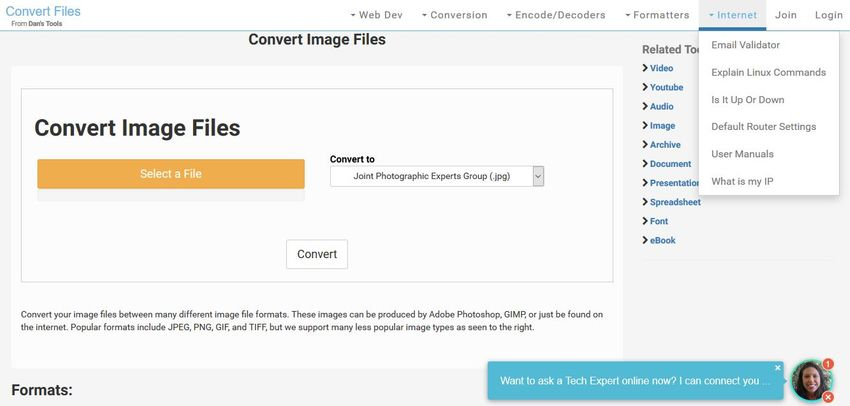 online convert PHP to JPG-Files Conversion