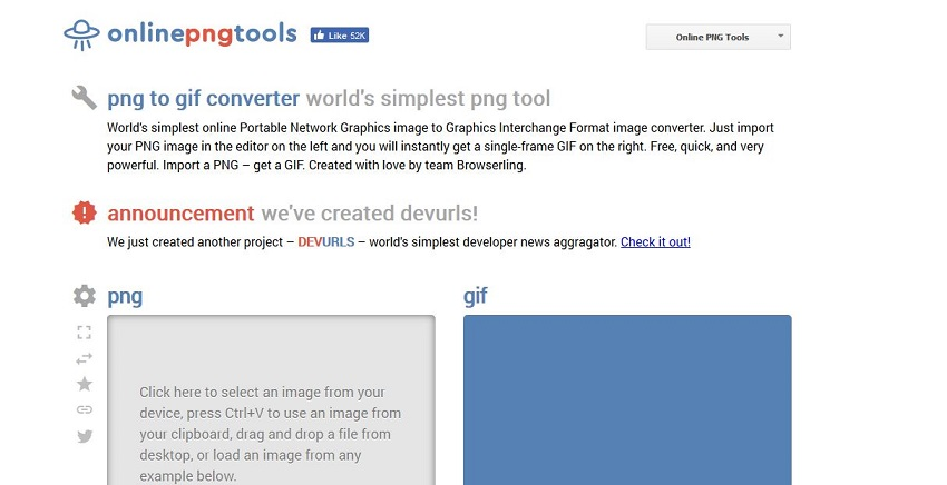 PNG to GIF file-Online PNG Tools