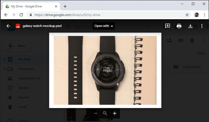 View PSD-Google Drive